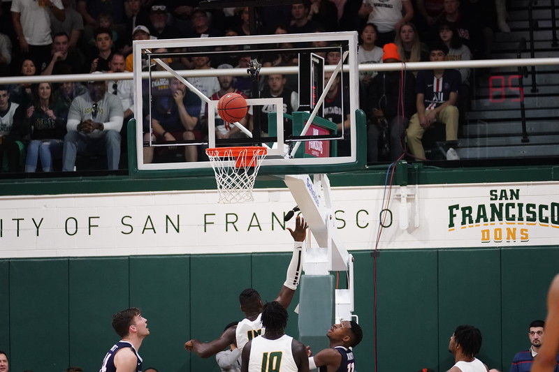2/1/20: USF MBB vs Gonzaga at War Memorial Gym in San Francisco, CA.  Image by Christina Leung for USF Dons Athletics