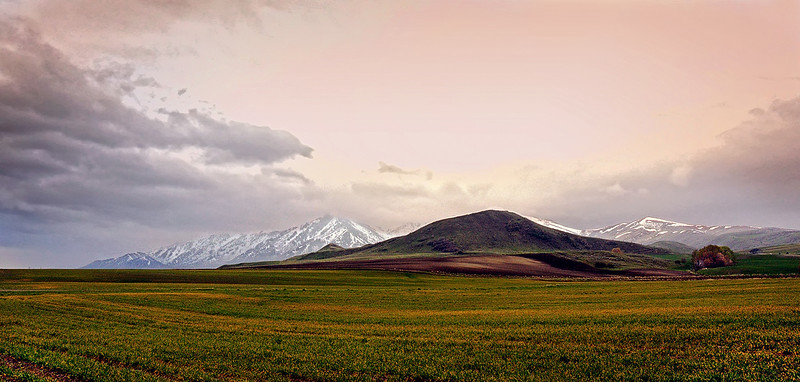 Early Spring - Northern Utah farmland
