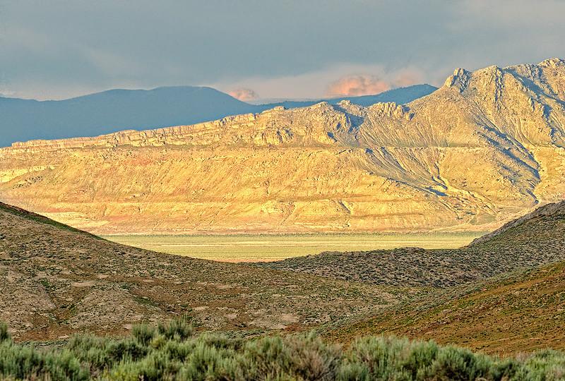 LOOKING ACROSS SKULL VALLEY - Utah's west-desert area