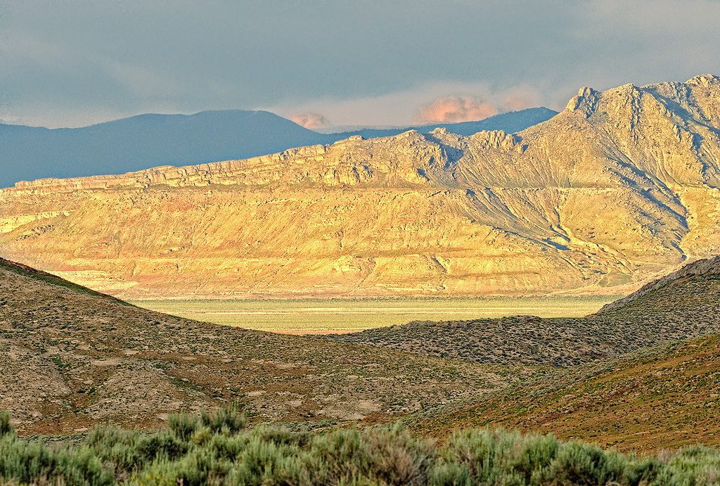 LOOKING ACROSS SKULL VALLEY - Utah's west-desert area