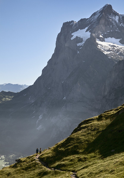 Hikers, Swiss Alps