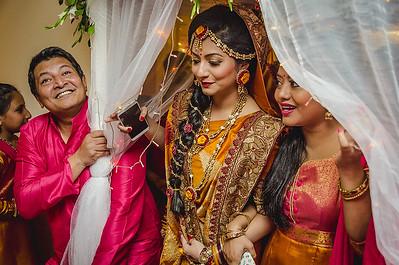 Candid Holud Bride With Bridesmaid Image By Sanjoy Shubro In Dhaka Bangladesh