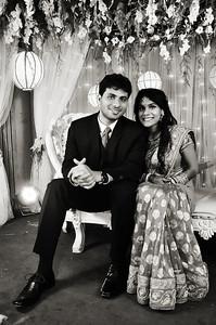 Black & White Wedding Reception Couple Shoot By Sanjoy Shubro In Bangladesh