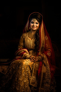 Top Wedding Reception Bride Portrait By Sanjoy Shubro In Bangladesh