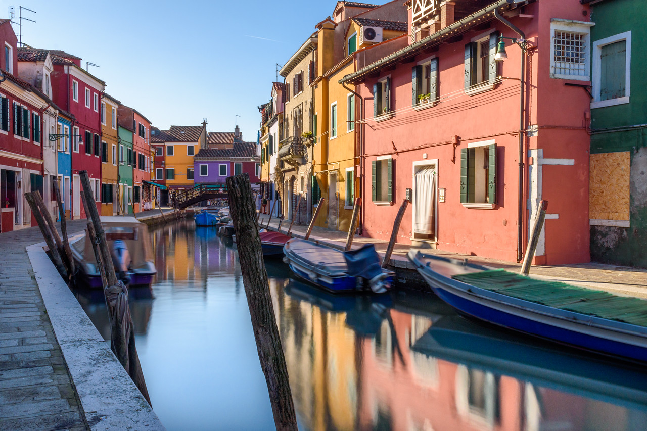 Canal in Burano, Venice