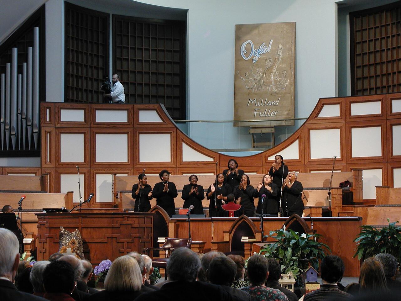 The choir was spectacular.