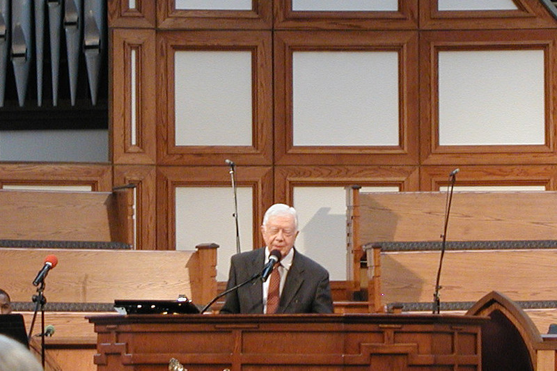 Former President Carter spoke.  He did a very nice job of sharing anecdotes that reminded us of Millard's determination and passion.