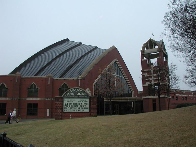 The exterior of the new Ebenezer Baptist Church.