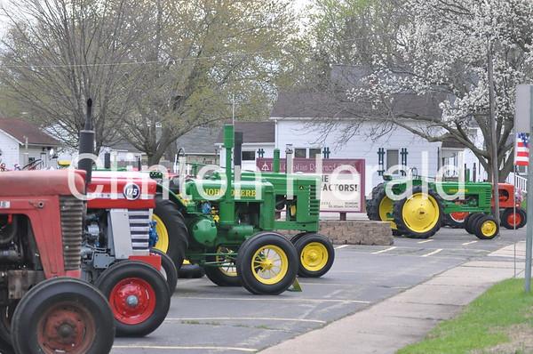 antique tractor exhibit in Fulton, Ill. (5-2-14)