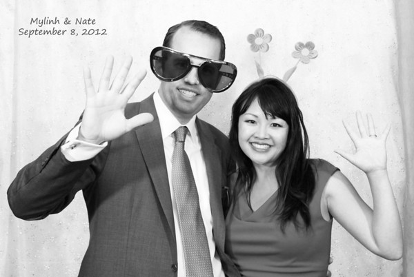 09.08.12 Mylinh + Nate's Fun Booth in B&W