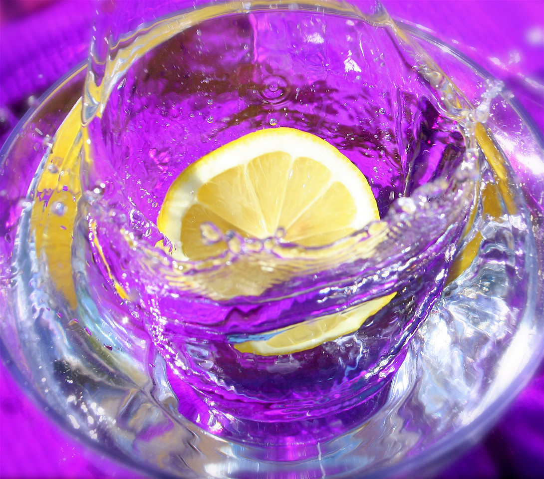 Lemon Drop on Purple