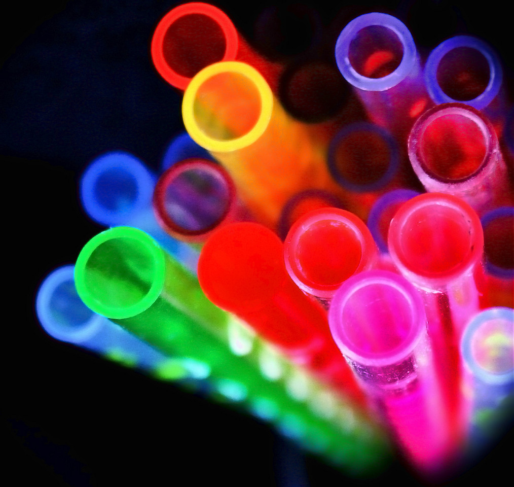 bright and colorful straws