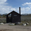 This latrine sits in Yellowstone National Park as the Lamar River Valley begins to give way to the Absaroka Mountains.  May 14, 2014