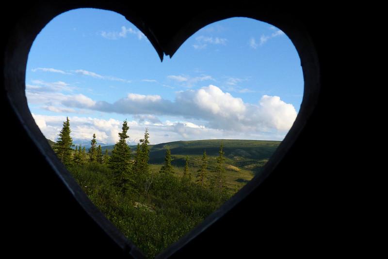 The view from our private latrine at Camp Denali.  Denali National Park, Alaska, June 2012
