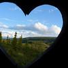 The view from out private latrine at Camp Denali.  Denali National Park, Alaska, June 2012