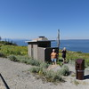There is a line for this latrine on the shore of Yellowstone Lake.  July 30, 2016