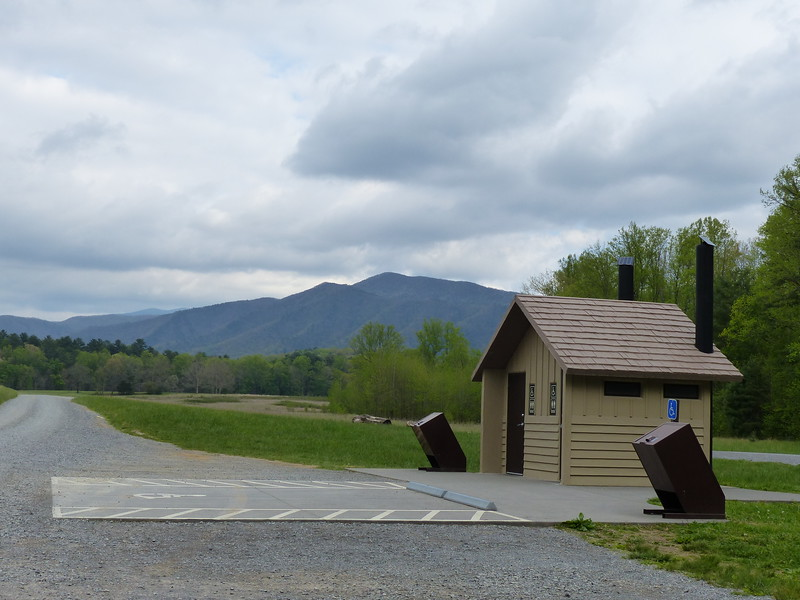 The hike to Abrams Falls in the Great Smoky Mountains National Park is consistently cloudy.  This is the view of the surrounding mountains from the trailhead parking lot.  May 2015