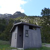 As part of the Spring into Yellowstone Festival, Linda and Patti joined a tour that traveled along the South Fork of the Shoshone River, through ever-deeper canyons and more forbidding terrain.  This latrine is in the Deer Creek Campground.  May 17th, 2014