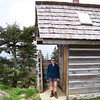 The most welcome building at the Mt. LeConte Lodge compound is also the first one you see at the end of a long hike along a cliff edge with no place to exit the trail for relief. Great Smoky Mountains National Park, Tennessee, May 2009