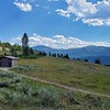 This outhouse is situated on a lovely sagebrush flat on one of the high points of the Chief Joseph Scenic Byway.  It overlooks the valley wherein lies the Clark's Fork of the Yellowstone River.  August 12, 2021