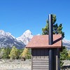 "Our friend Dale said ""If I had some air freshener and a camp stove, I'd live there"". We might not go that far, but this outhouse has a very nice view. Grand Teton National Park, Wyoming, October 2007"