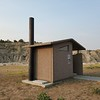 Jeane celebrated getting to her 49th state: North Dakota!  This latrine is in Theodore Roosevelt National Park.  August 2, 2021