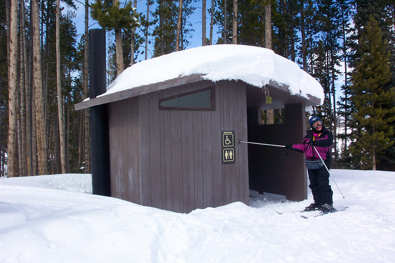 An outhouse in Vail, Colorado...Jeane found it amusing that it is ADA-compliant.  March 2011