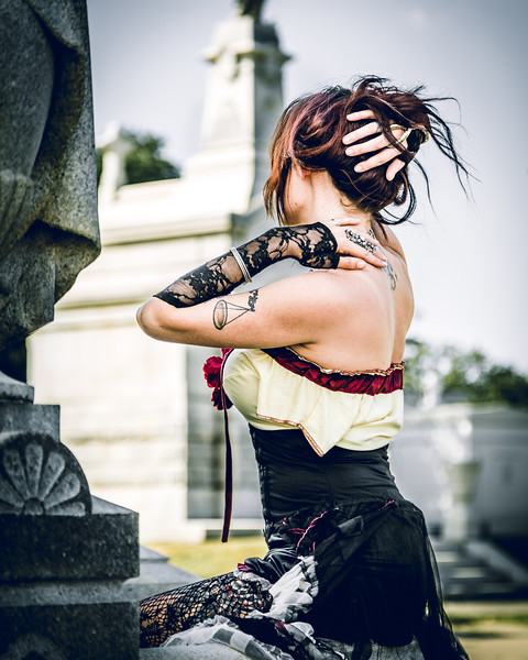 Courtney in Metairie Cemetery