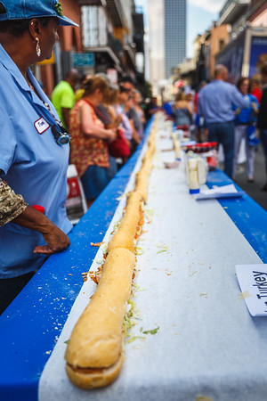 National Sandwich Day -Longest Po-boy in NOLA History