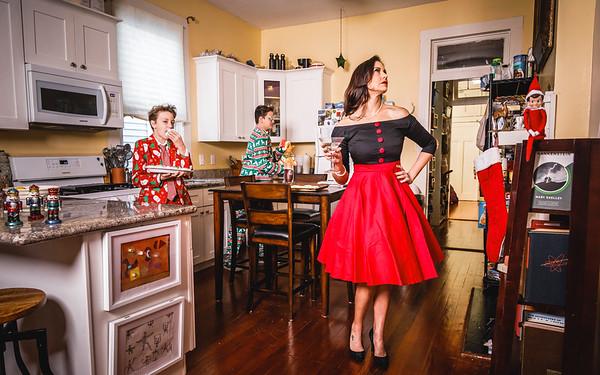 Lorraine and her boys - Christmas 2017