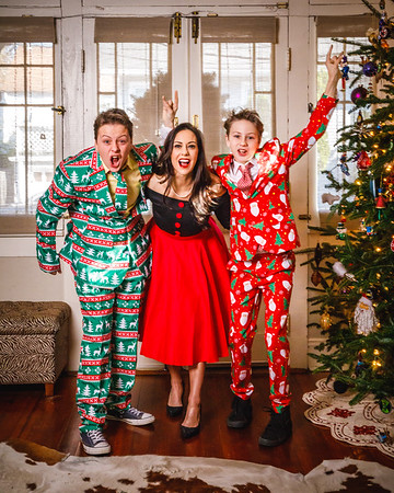Lorraine and her boys - Christmas 2017