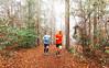 Foggy morning trail run