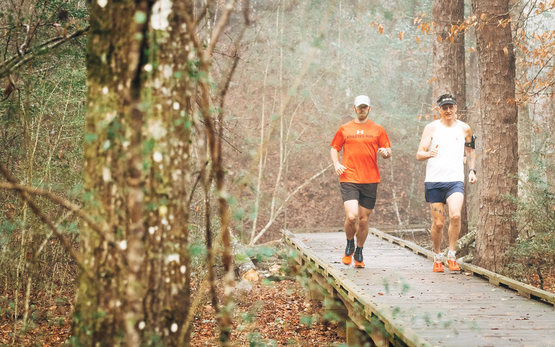 Runners on the Lower Gorge Trail