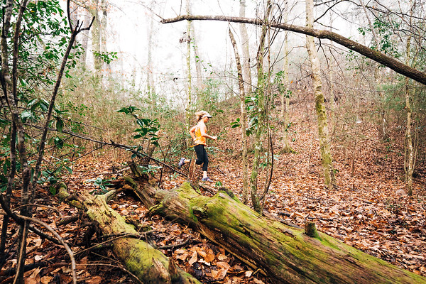 Trail running in Bogue Chitto State Park