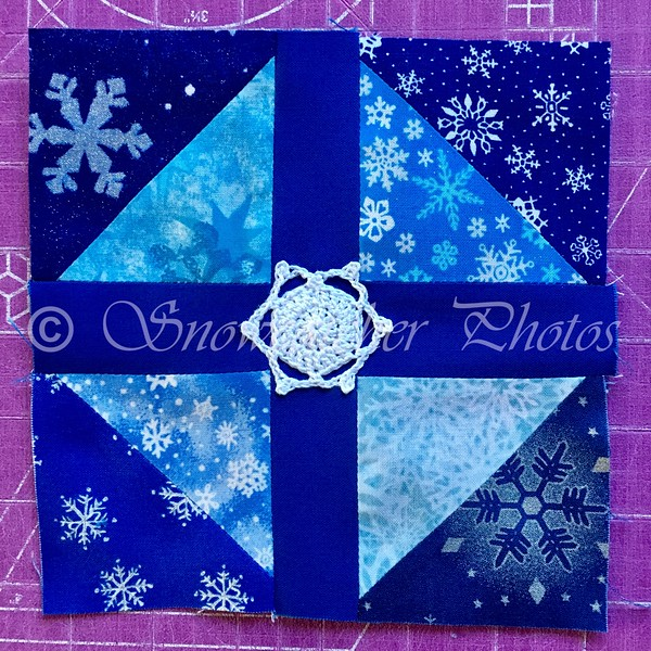 Texas Puzzle with Mini Hexie Madness Snowflake