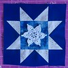 Evening Star Quilt Block with Teal Treasure Snowflake