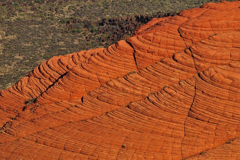 Cross-bedding, Petrified Dunes, Snow Canyon State Park