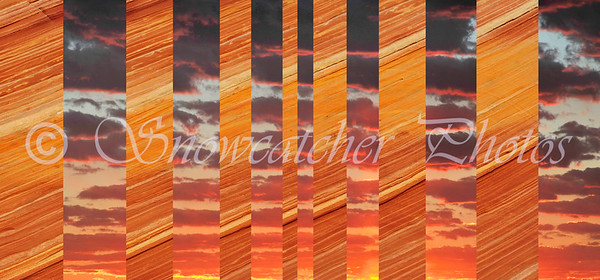 Digital Quilt of a Sunrise and The Wave