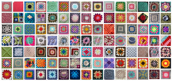 Granny Square Day 2015, from Instagram