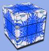 dandelion snowflake, cubed