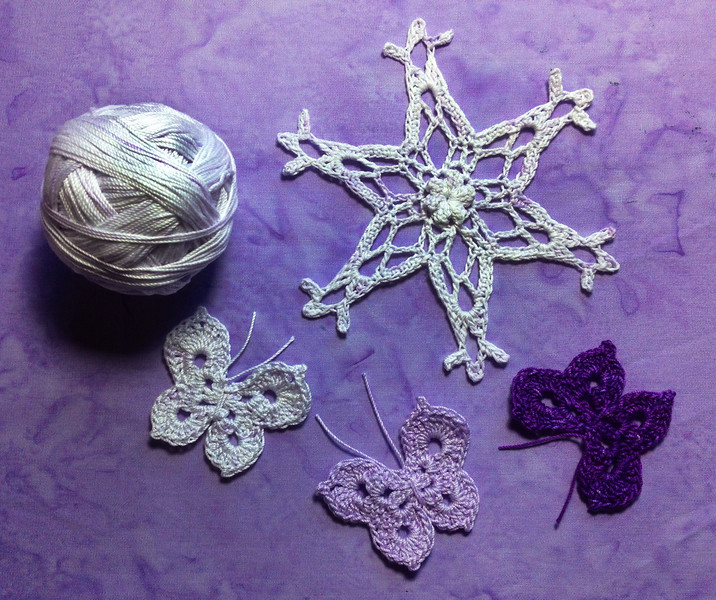 my palest shade of lavender thread