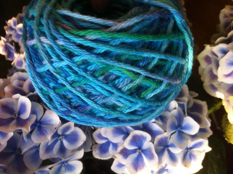 my first yarn cake