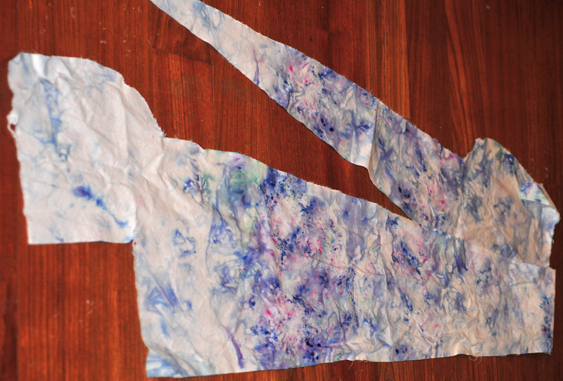 snow-dyed fabric
