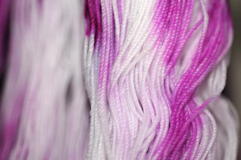 snow-dyed thread