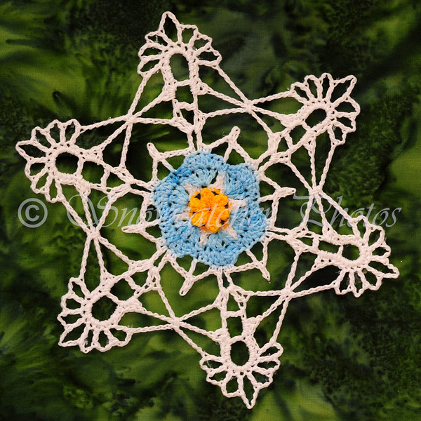 """<a href=""""http://www.snowcatcher.net/2015/05/forget-me-not-monday.html"""" target=""""_blank"""">Forget-Me-Not Snowflake</a>"""