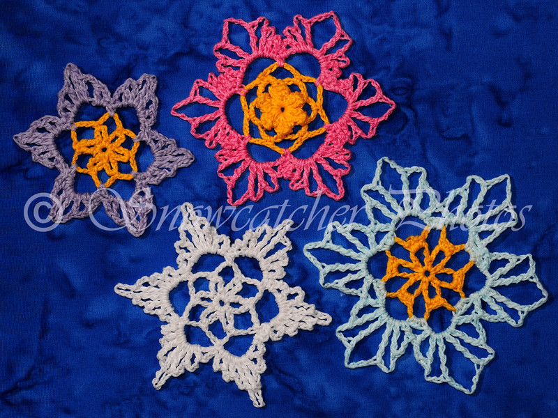 Lacey Flower Snowflakes