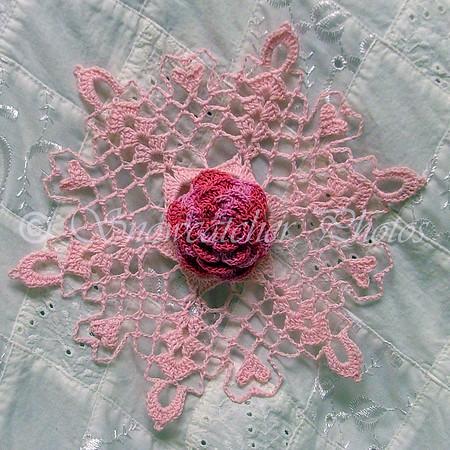 Giant Pink Dahlia Snowflake