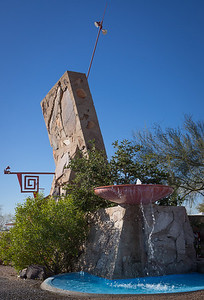 Entrance to Taliesin West -- this and the following images from a later visit.