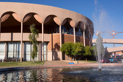 Grady Gammage Auditorium on the campus of Arizona State University. Completed after Wright's death.