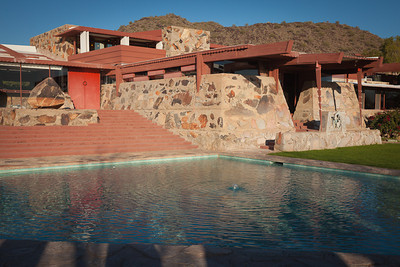 Taliesin West, Wright's own home and studio. Our tour ended with a walk through this site; I had visited it before, but there's something new to see each time.